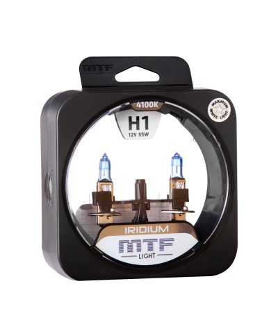 Комплект галогенных ламп MTF Light Iridium H1 12V 55W, , 800.0000, HRD1201, MTF Light, [category_name]