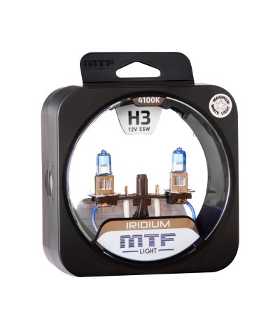 Комплект галогенных ламп MTF Light Iridium H3 12V 55W, , 900.0000, HRD1203, MTF Light, [category_name]