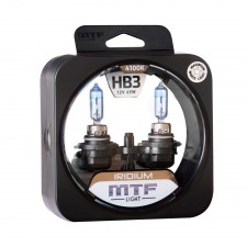Комплект галогенных ламп MTF Light Iridium HB3 12V 65W, , 950 руб., HRD12B3, MTF Light, Галогеновый свет