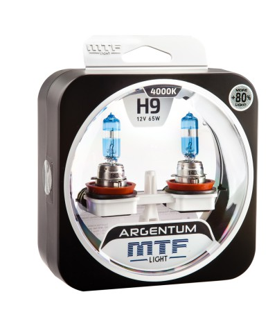 Комплект галогенных ламп MTF Light H9 12V 65W ARGENTUM +80% 4000K, , 1200.0000, H8A1209, MTF Light, [category_name]