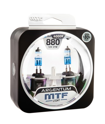 Комплект галогенных ламп MTF Light Н27(880) 12V 27W ARGENTUM +80% 4000K, , 1050.0000, H8A1280, MTF Light, [category_name]