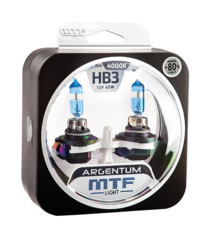 Комплект галогенных ламп MTF Light HB3(9005) 12V 65W ARGENTUM +80% 4000K, , 1050.0000, H8A12B3, MTF Light, [category_name]