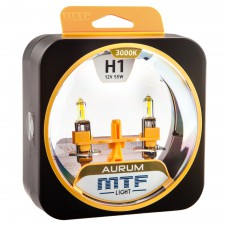 Комплект галогенных ламп MTF Light H1 12V 55W AURUM 3000K, , 800 руб., HAU1201, MTF Light, Серия Aurum