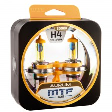 Комплект галогенных ламп MTF Light H4 12V 60/55W AURUM 3000K, , 900 руб., HAU1204, MTF Light, Серия Aurum