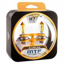 Комплект галогенных ламп MTF Light H7 12V 55W AURUM 3000K, , 900 руб., HAU1207, MTF Light, Серия Aurum