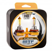 Комплект галогенных ламп MTF Light Н8 35W AURUM, , 1 000 руб., HAU1208, MTF Light, Серия Aurum