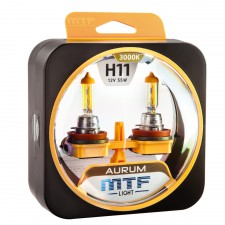 Комплект галогенных ламп MTF Light H11 12V 55W AURUM 3000K, , 1 000 руб., HAU1211, MTF Light, Серия Aurum
