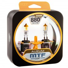 Комплект галогенных ламп MTF Light Н27(880) 12V 27W AURUM 3000K, , 950 руб., HAU1280, MTF Light, Серия Aurum