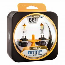 Комплект галогенных ламп MTF Light Н27(881) 12V 27W AURUM 3000K, , 950 руб., HAU1281, MTF Light, Серия Aurum