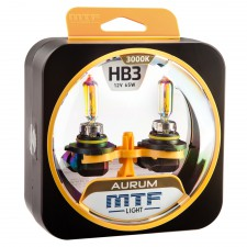 Комплект галогенных ламп MTF Light HB3(9005) 12V 65W AURUM 3000K, , 950 руб., HAU12B3, MTF Light, Серия Aurum