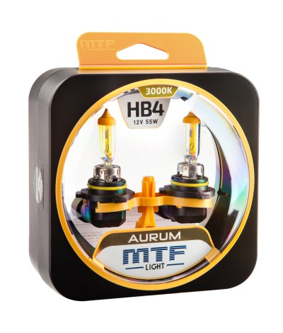 Комплект галогенных ламп MTF Light HB4(9006) 12V 55W AURUM 3000K, , 950.0000, HAU12B4, MTF Light, [category_name]