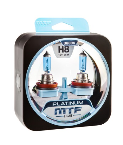 Комплект галогенных ламп MTF Light Н8 35W Platinum, , 1000.0000, HPL1208, MTF Light, [category_name]