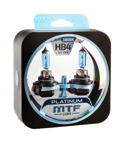 Комплект галогенных ламп MTF Light НB4 55W Platinum, , 900.0000, HPL12B4, MTF Light, [category_name]