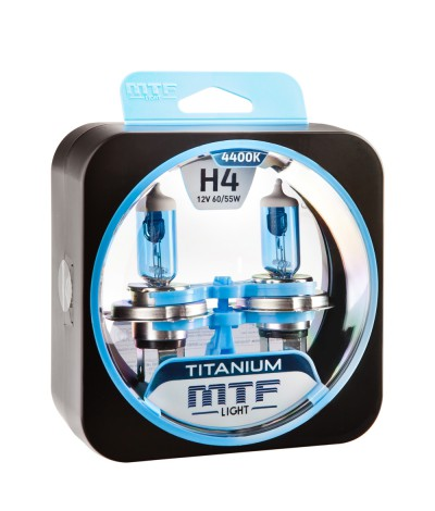 Комплект галогенных ламп MTF Light Н4 100/ 90W Titanium, , 900.0000, HTN1204S, MTF Light, [category_name]