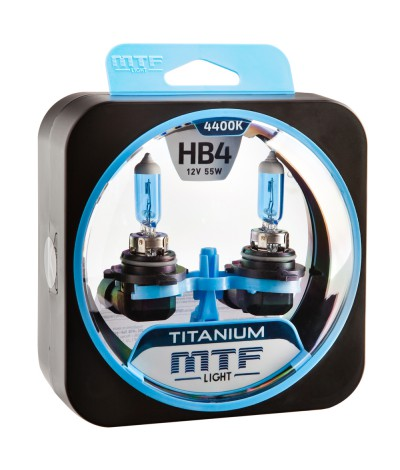Комплект галогенных ламп MTF Light НB4 55W Titanium, , 950.0000, HTN12B4, MTF Light, [category_name]
