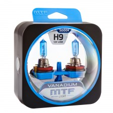 Комплект галогенных ламп MTF Light H9 12V 35W VANADIUM 5000K, , 1 000 руб., HVN1209, MTF Light, Серия Vanadium