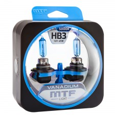 Комплект галогенных ламп MTF Light HB3(9005) 12V 55W VANADIUM 5000K, , 950 руб., HVN12B3, MTF Light, Серия Vanadium