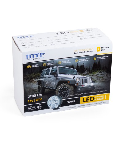 Фара дальнего света MTF Light LED 2700Lm, , 10500.0000, , MTF Light, [category_name]
