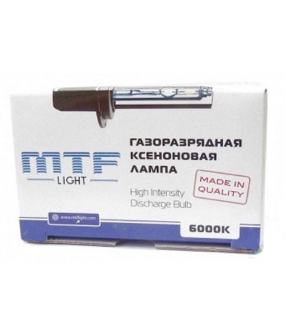 Лампа ксенон MTF Light H11 (H8, H9) 6000К, , 1150.0000, XBH11K6, MTF Light, [category_name]