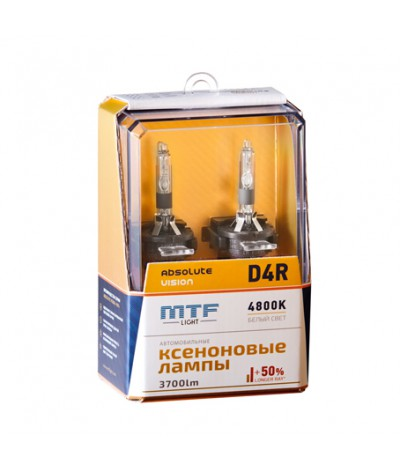 Лампа ксенон MTF Light D4R Absolute Vision 4800K, , 4500.0000, AVBD4R, MTF Light, [category_name]
