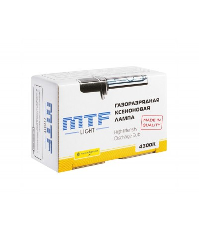 Лампа ксенон MTF Light H27 (880/881) 4300К, , 1150.0000, XBH27K4, MTF Light, [category_name]