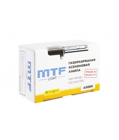 Лампа ксенон MTF Light H11 (H8, H9) 4300К, , 950.0000, XBH11K4, MTF Light, [category_name]